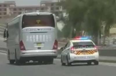 آئی جی موٹر وے پولیس کا نیواسلام آباد ایئرپورٹ کےقریب موٹروے پولیس کی بس پر فائرنگ کا نوٹس، ملوث دوافسران معطل