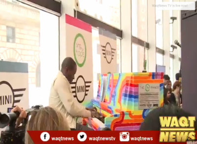 Handpainted pianos hit New York City streets to promote arts education