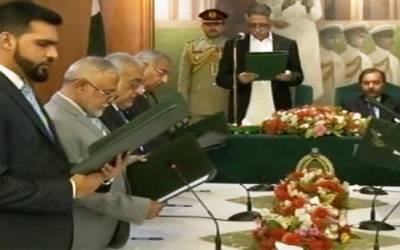 سندھ کی 7 رکنی نگران کابینہ نے حلف اٹھالیا۔