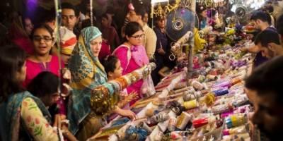 Women, Children, Elderly, all busy in Eid shopping