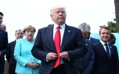 جی سيون اجلاس ميں امريکی صدر ڈونلڈ ٹرمپ کی جانب سے مشترکہ اعلاميے کی توثيق سے انکار