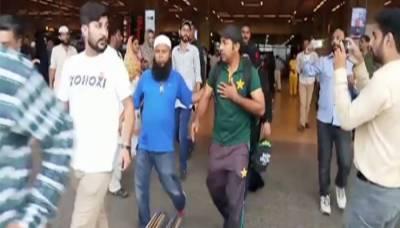 کپتان سرفراز احمد جناح انٹرنیشنل ایئرپورٹ پہنچے