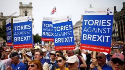 برطانیہ میں ایک لاکھ سے زائد افراد نے بریگزٹ کیخلاف مظاہرہ کیا،