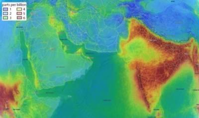 خلا سے انڈیا کی فضا الگ کیوں دکھائی دیتی ہے؟