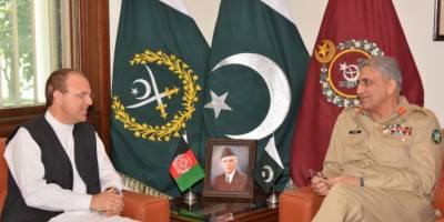 آرمی چیف جنرل قمرجاوید باجوہ سے افغان سفیرعمر ذخیل وال کی ملاقات, افغانستان سمیت خطے کی سلامتی کی صورتحال پرتبادلہ خیال