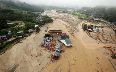 جاپان میں شدید بارشیں اور سیلاب ، ایک شخص ہلاک