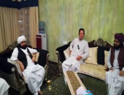 گولڑہ شریف پیرنظام الدین جامی نے عمران خان کی حمایت کا اعلان کر دیا