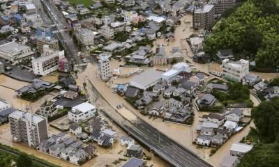 جاپان میں طوفانی بارشوں اور سیلاب نے تباہی مچا دی