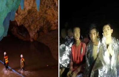 تھائی لینڈ کی غار میں پھنسے بچوں کو نکالنے کے لئے ریسکیو مشن شروع کر دیا گیا