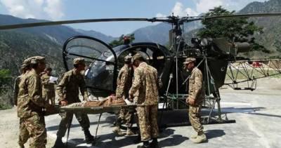دریائے سواں میں پھنسے 5 افراد کو ہیلی کاپٹر سے نکال لیا گیا