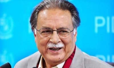 مسلم لیگ (ن) کے رہنما پرویز رشید کی میڈیا سے گفتگو
