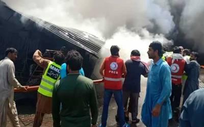 اسلام آباد: پشاور موڑ اتوار بازار میں اچانک آگ بھڑک اٹھی
