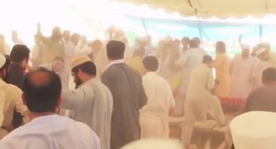 مہمند ایجنسی میں جماعت اسلامی کے جلسے کا سٹیج گرگیا