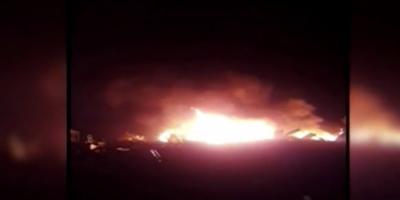 کراچی کے علاقے دو دریا کے قریب نجی ریسٹورینٹ کے وئیر ہاوس میں اچانک آگ لگ گئی