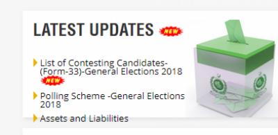 الیکشن کمیشن: امیدواروں کی تصاویر ویب سائٹ پر آویزاں کرنیکا فیصلہ