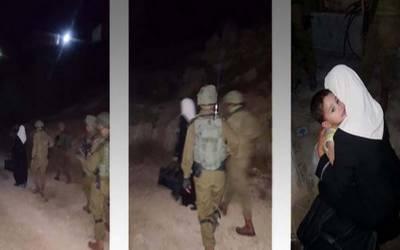 اسرائیلی فوج کے ہاتھوں گرفتاری سے قبل اپنے معصوم بیٹے کو اللہ حافظ کہہ دیا۔ فلسطینی خاتون صحافی