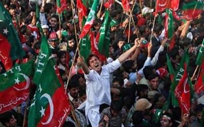 پاکستان کے عام انتخابات میں تحریک انصاف کے شاندار کامیابی پرمظفرآباد میں ریلی