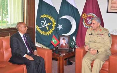 آرمی چیف جنرل قمر جاوید باجوہ سے مالدیپ کے ہائی کمشنر کی ملاقات