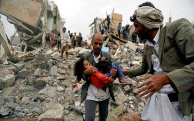سعودی اتحاد کی حدیدہ کی بندرگاہ پر بمباری ، 55افراد جاں بحق، 124زخمی