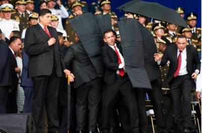 وینزویلاکے صدرنکولس میدورو فوجی تقریب سے خطاب کےدوران ڈرون حملے میں بال بال بچ گئے،