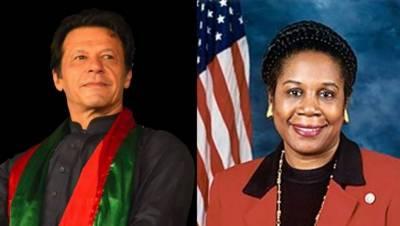 امریکی کانگریس کی رکن شیلا جیکسن کی عمران خان کو کامیابی پر مبارکباد