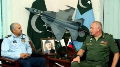 روس کے ڈپٹی دفاع وزیر کی ایئر چیف مارشل مجازی انور خان سے ملاقات