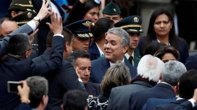 کو لمبیا کےنئے منتخب صدر Ivan Duque نے آج (بدھ) اپنے عہدے کا حلف اٹھایا