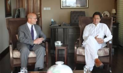 قائم مقام امریکی سفیرجان ایف ہوورکی عمران خان سے ملاقات، افغانستان کا استحکام پاکستان امریکہ اورخطے کے مفاد میں ہے،عمران خان