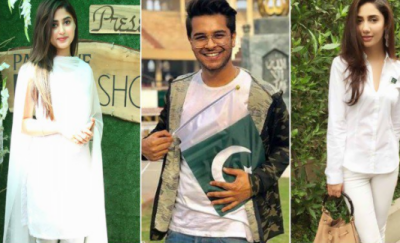 شوبز شخصیات کی جانب سے جشن آزادی پاکستان مبارک!