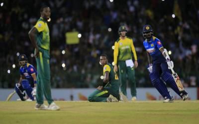 سری لنکا نے جنوبی افریقہ کو واحد ٹی ٹونٹی میں تین وکٹوں سے ہرادیا۔