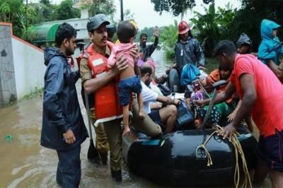 بھارت میں شدید بارشوں اور سیلاب نے تباہی مچادی
