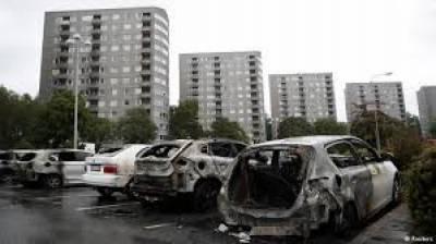 سویڈن میں رواں ہفتےگاڑیوں کوآگ لگانےکےواقعات