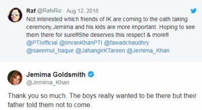 سابق اہلیہ جمائما گولڈاسمتھ نے سوشل میڈیا پر وجہ بتادی،
