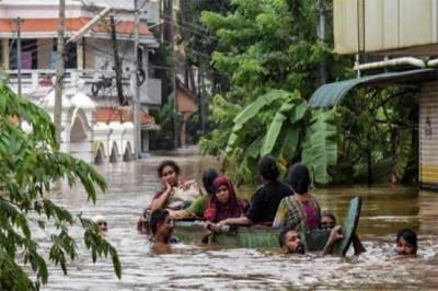 بھارتی ریاست کیرالہ میں بدترین سیلاب کی تباہ کاریاں جاری