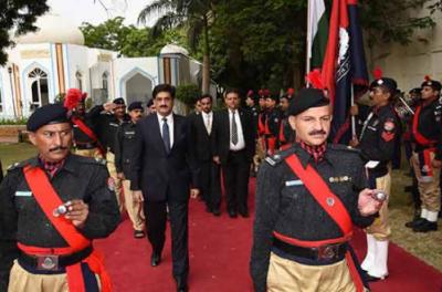 مراد علی شاہ کی وزیراعلی ہاوس آمد، گارڈ آف آنر پیش کیا گیا