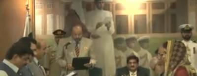 وزیراعلیٰ سندھ سید مراد علی شاہ کی دس رکنی نئی کابینہ نے حلف اٹھالیا