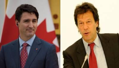 کینیڈا کے وزیراعظم جسٹن ٹروڈو ن کا وزیراعظم عمران خان کو ٹیلیفون، وزارت عظمی کا عہدہ سنبھالنے پر مبارکباد