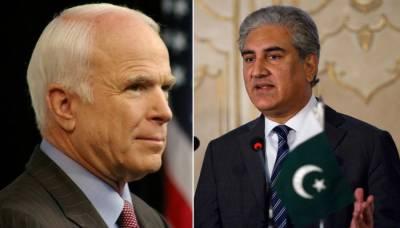 وزیر خارجہ کا سابق امریکی نائب صدر جان مکین کے انتقال پر اظہار افسوس