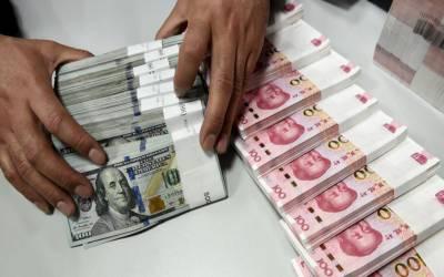 ین اور یوان کے مقابلے امریکی ڈالر کی شرح تبادلہ میں کمی