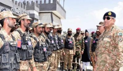 پاک افغان سرحد کے علاقوں میں آپریشنز جاری رہیں گے، آرمی چیف