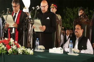 پی ٹی آئی کے چوہدری سرور نےگورنر پنجاب کے عہدے کا حلف اٹھالیا