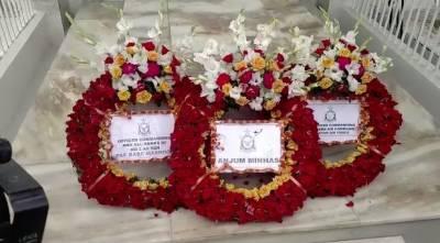 یوم فضائیہ کے موقع پر شہید راشد منہاس کی قبر پر تقریب