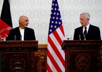جیمز میٹس نے کابل میں افغان صدر اشرف غنی سے ملاقات کی