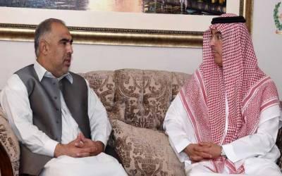سپیکر قومی اسمبلی اسد قیصر سے سعودی عرب کے وزیر برائے ثقافت و اطلاعات کی ملاقات
