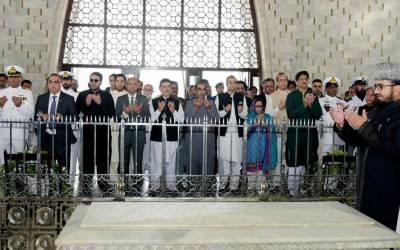 بابائے قوم قائداعظم کی برسی: گورنرسندھ اور وزیراعلیٰ سندھ کی مزار قائد پر حاضری