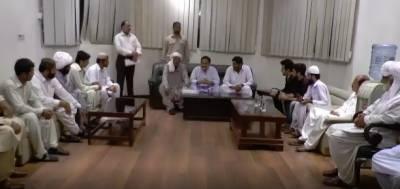 وزیر اعلی پنجاب سردارعثمان بزدارنےڈیرہ اسماعیل خان اورقبائلی علاقوں کےوفود سے ملاقات کی
