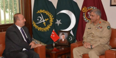 آرمی چیف سے ترک وزیر خارجہ کی ملاقات