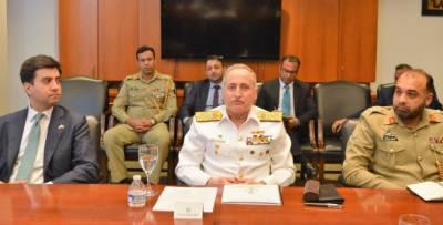 واشنگٹن:سربراہ پاک بحریہ ایڈمرل ظفرمحمودعباسی کی میڈیاسےگفتگو