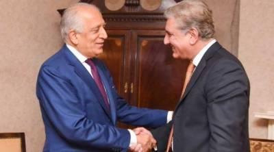 وزیر خارجہ کی زلمے خلیل زاد سے ملاقات،افغان امن عمل کیلئے تعاون کا اعادہ