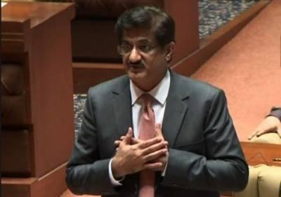وزیراعلیٰ سندھ مراد علی شاہ نے پیپلز پارٹی کے ارکان کی تقاریر پر معافی مانگ لی